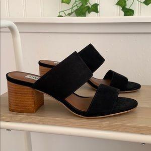 Black strap heel